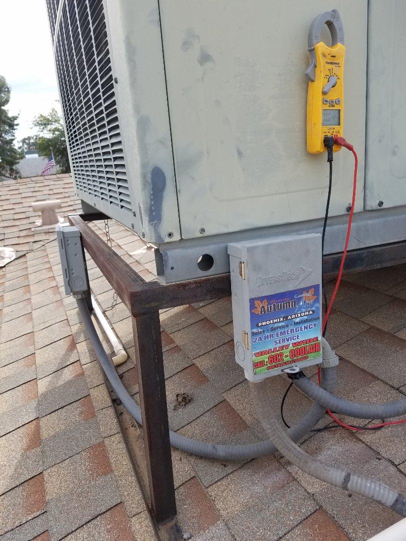 Phoenix, AZ - Did a tune up on a gas pack Goodman unit in Phoenix, Arizona.