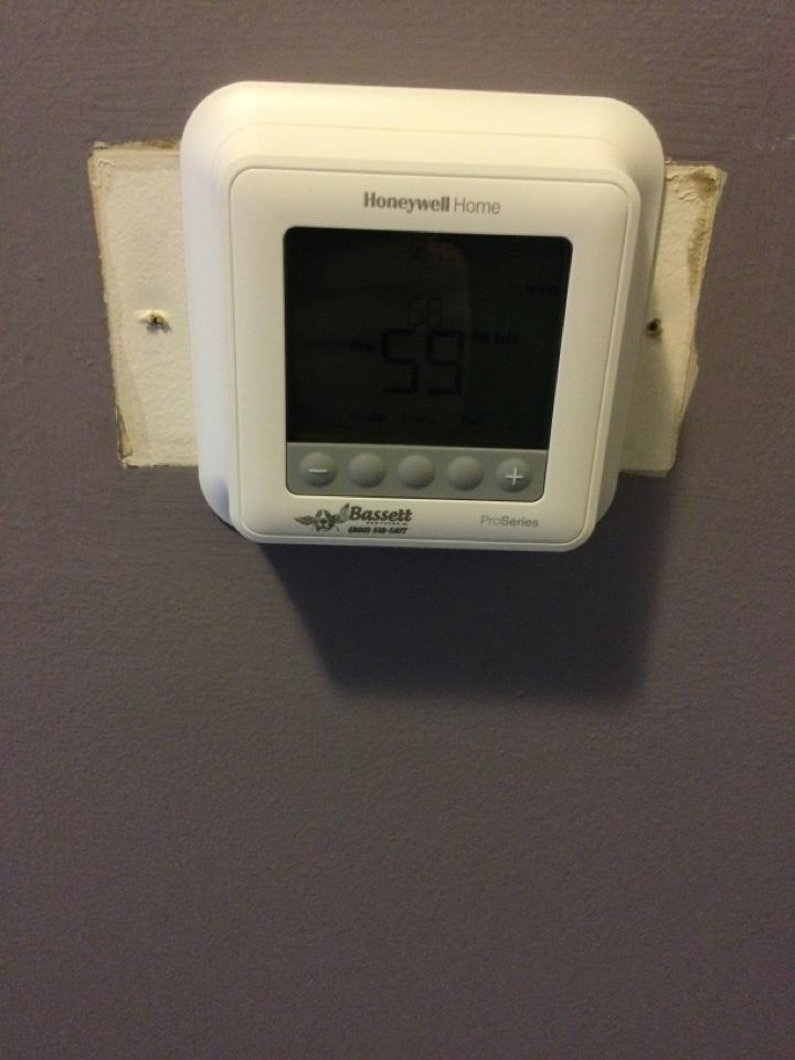 Plainfield, IN - New thermostat installation. Honeywell.