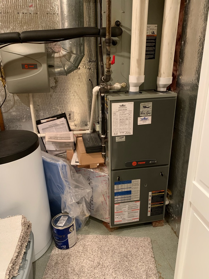 Pittsboro, IN - 11 Year Old Trane Gas Furnace and Heat Pump Fall Tune Up