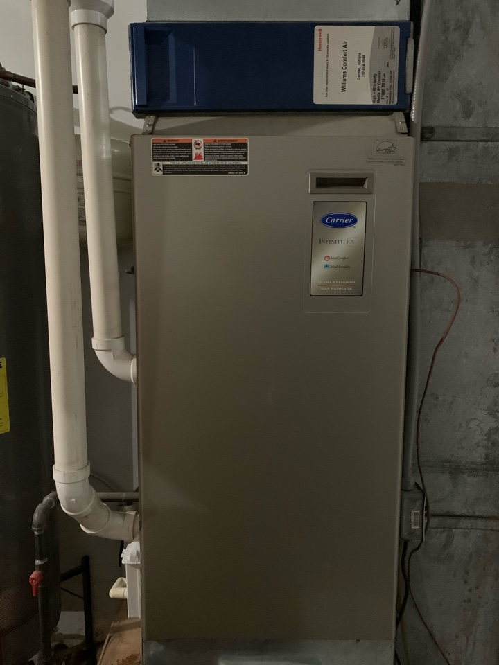 Carmel, IN - 12 Year Old Carrier Gas Furnace Winter Tune Up