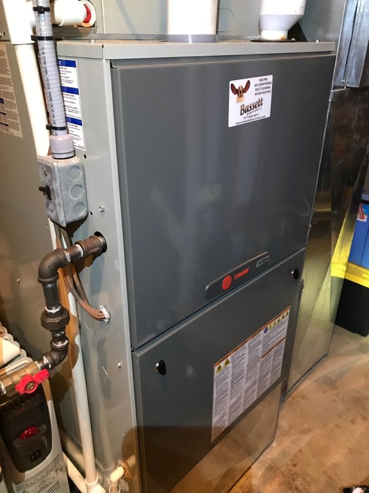 Carmel, IN - Repairing a Trane gas furnace