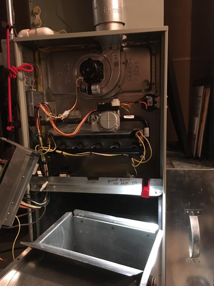 Carmel, IN - Trane gas furnace Service maintenance and repair