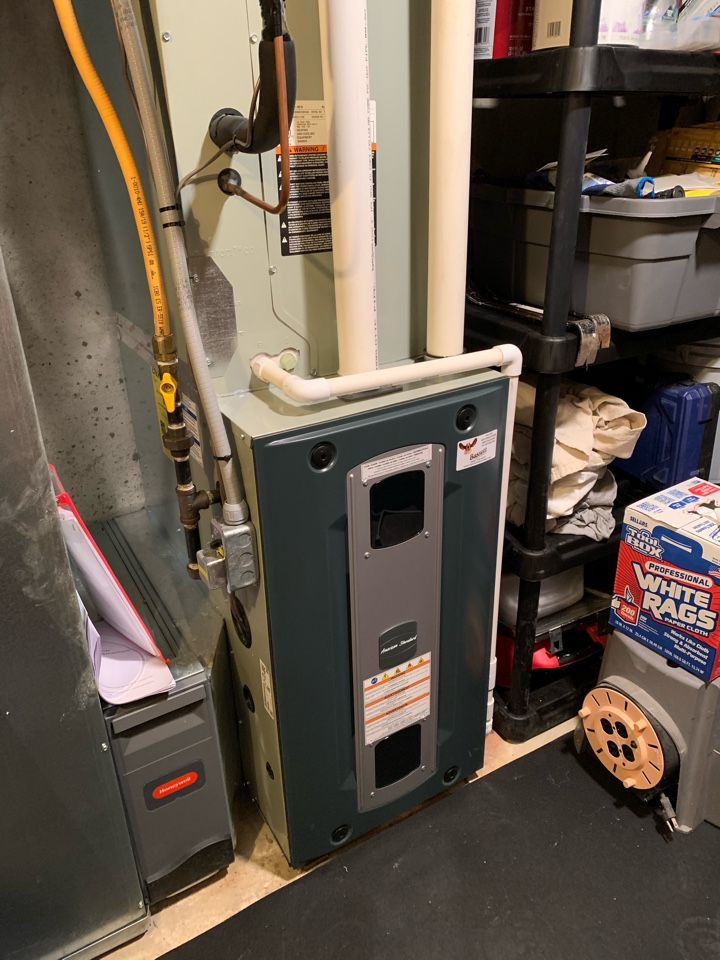Zionsville, IN - Four Year Old American Standard Gas Furnace Winter Tune Up
