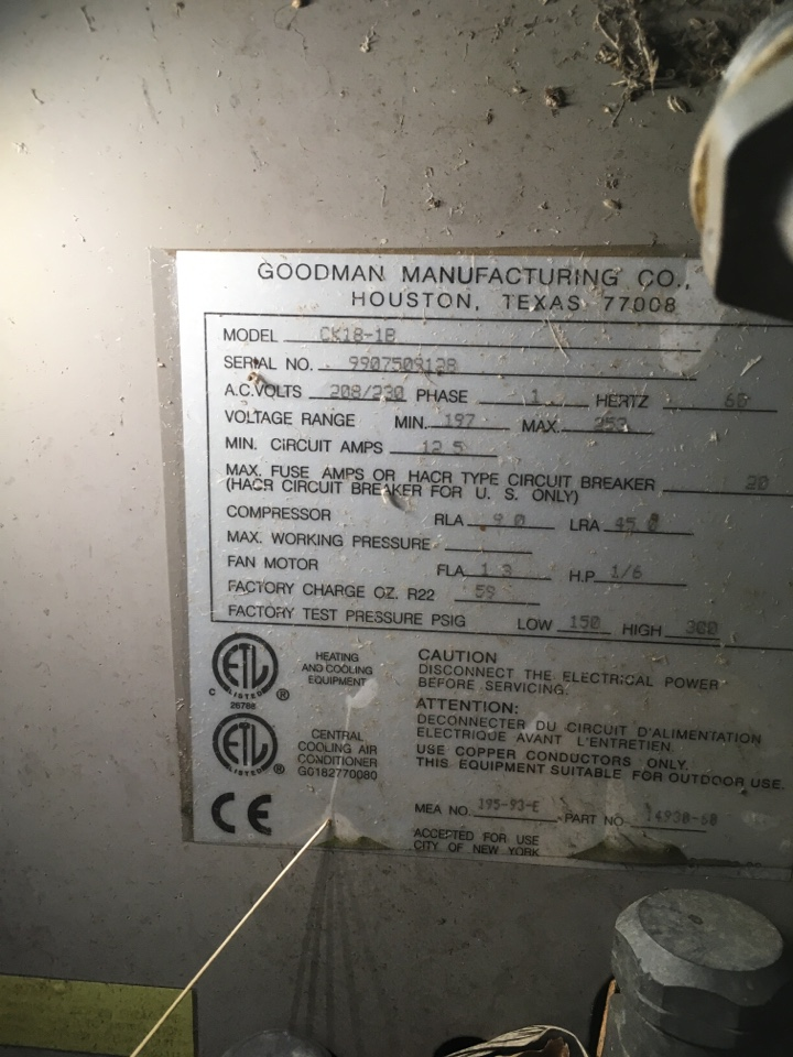 Greencastle, IN - American standard gas furnace with Goodman condenser service maintenance and repair