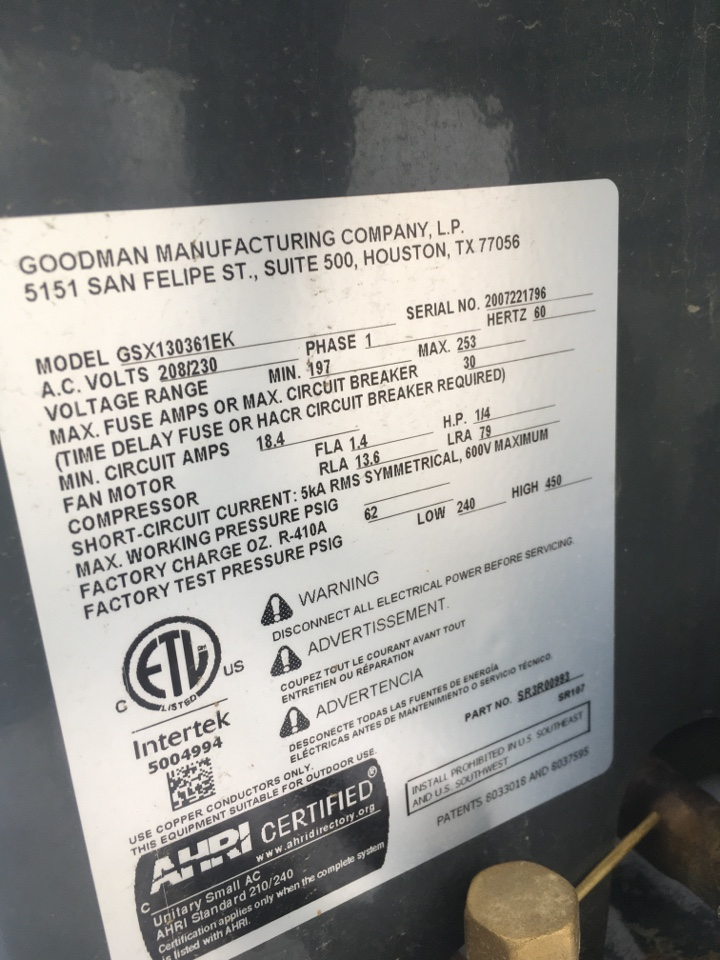 Brownsburg, IN - Goodman gas furnace and AC unit service maintenance and repair
