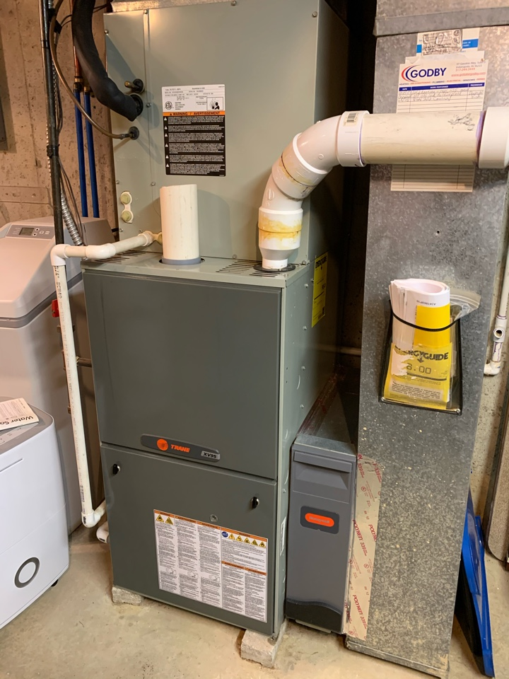 Fishers, IN - 11 Year Old Trane Gas Furnace/Heat Pump Winter Tune Up
