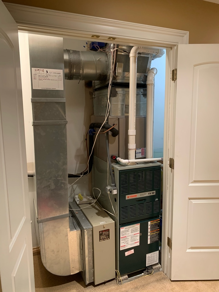 Greenwood, IN - Annual tune up and preventative maintenance on a Trane gas furnace.