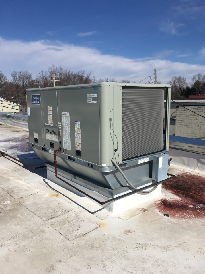 Plainfield, IN - Heating Maintenance Service American Standard Rooftop Package Unit