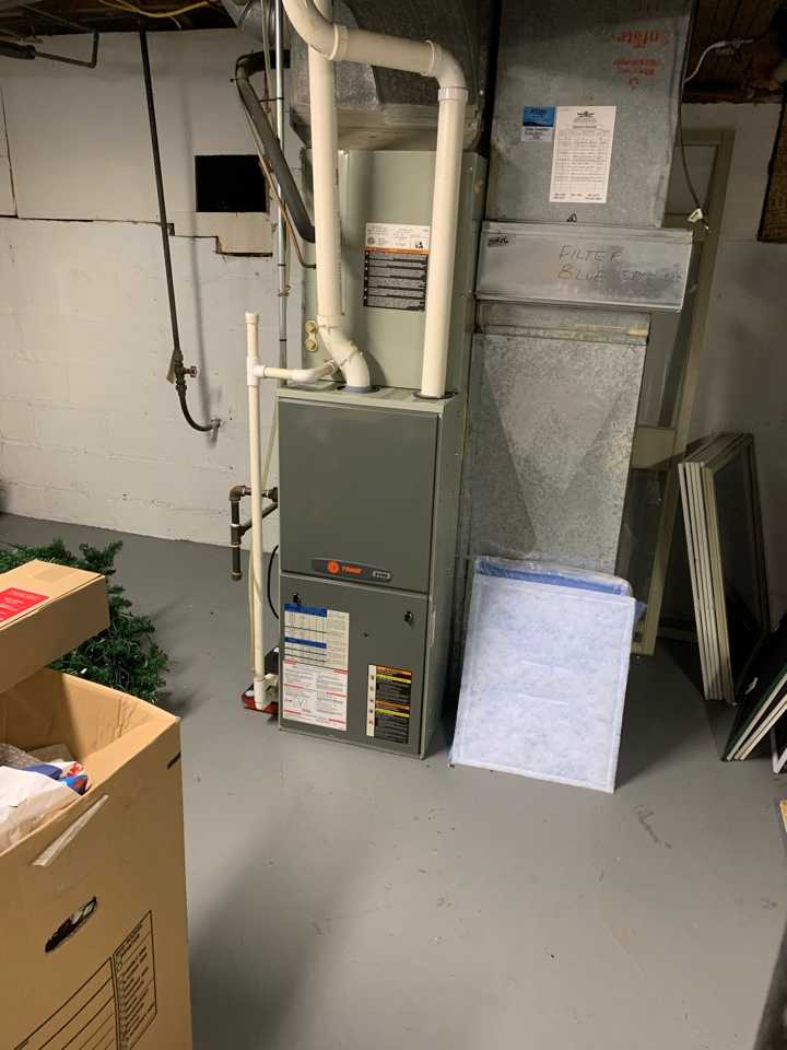 Speedway, IN - 12 Year Old Trane Gas Furnace Winter Tune Up