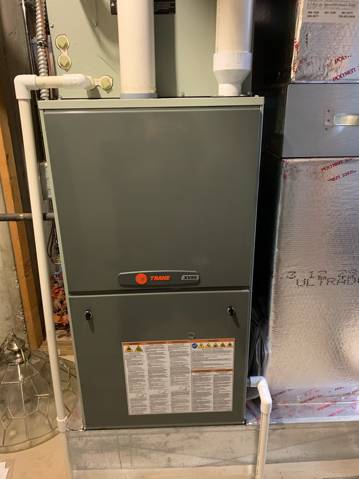 Avon, IN - 10 Year Old Trane Gas Furnace Winter Tune Up