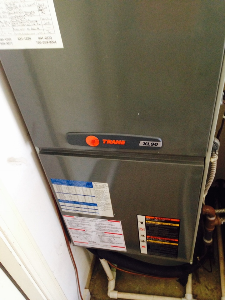 Brownsburg, IN - Heating tune up on Trane gas furnace