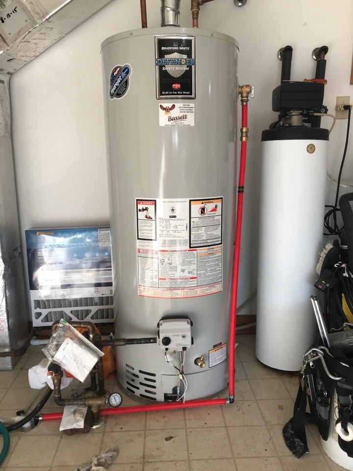 Avon, IN - Installing a 50 gallon gas Bradford white hot water heater