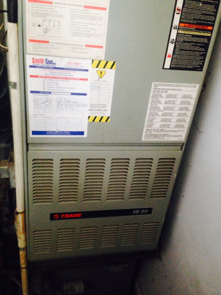 Avon, IN - Heating tune up on Trane gas furnace