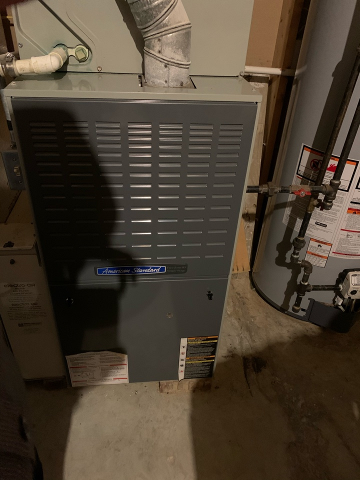 Plainfield, IN - 19 Year Old Trane Gas Furnace Winter Tune Up