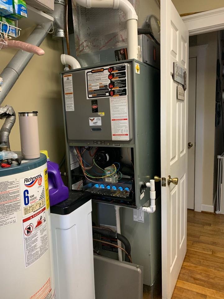 Fillmore, IN - Service call repair on a Rheem gas furnace.