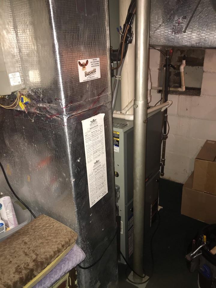 Zionsville, IN - Repairing a Trane gas furnace