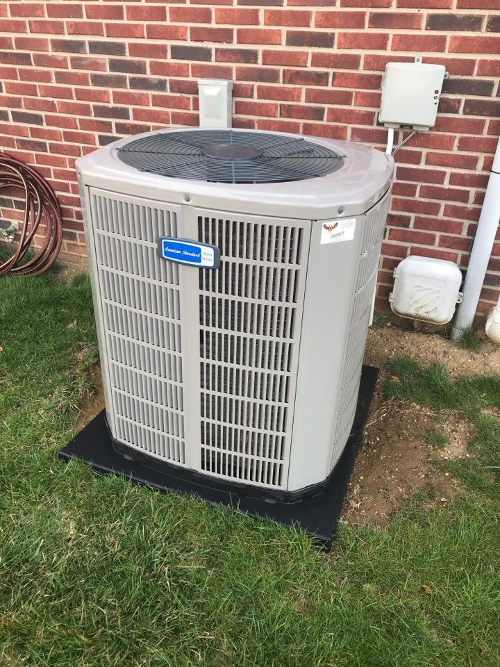 Speedway, IN - Cleaning and servicing a American standard air conditioner