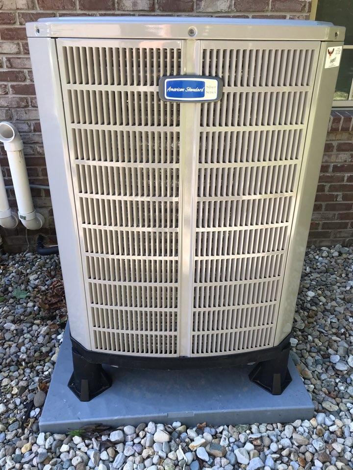Clayton, IN - Repairing a American standard air conditioner heat pump furnace