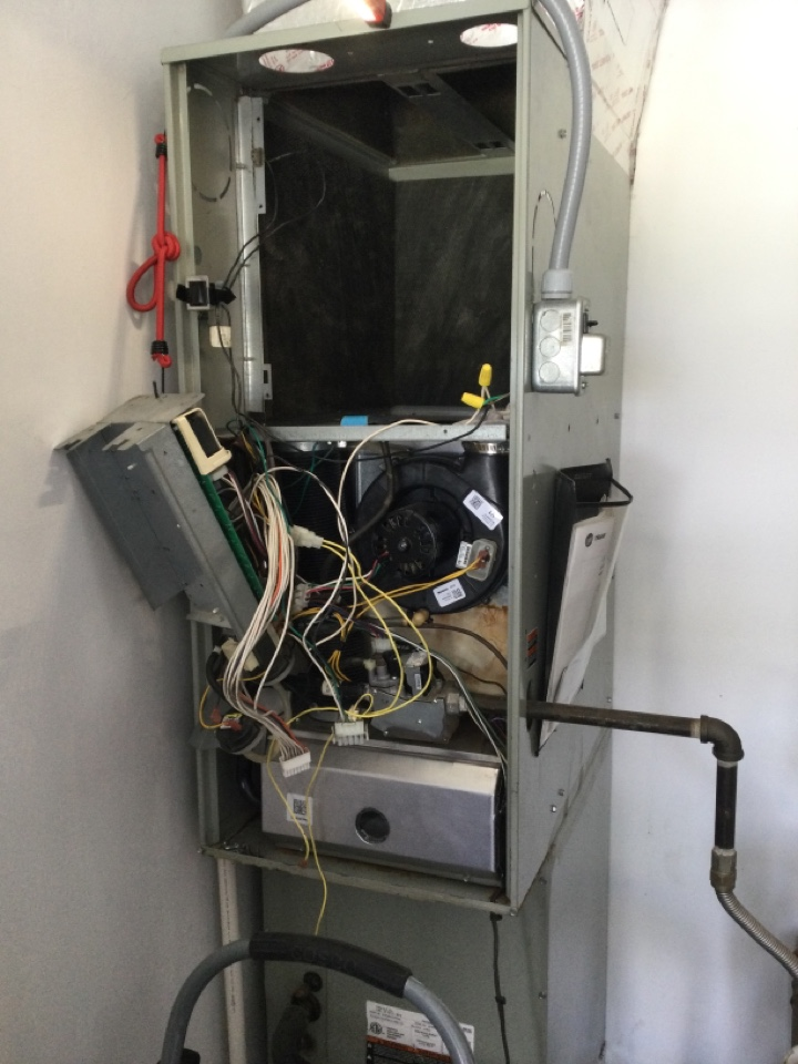 Clayton, IN - Trane gas furnace AC service maintenance and repair