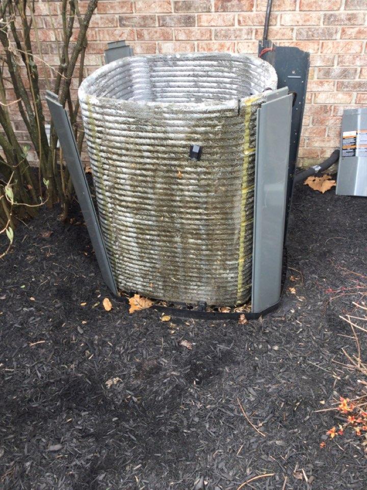Carmel, IN - Trane heat pump AC service maintenance and repair