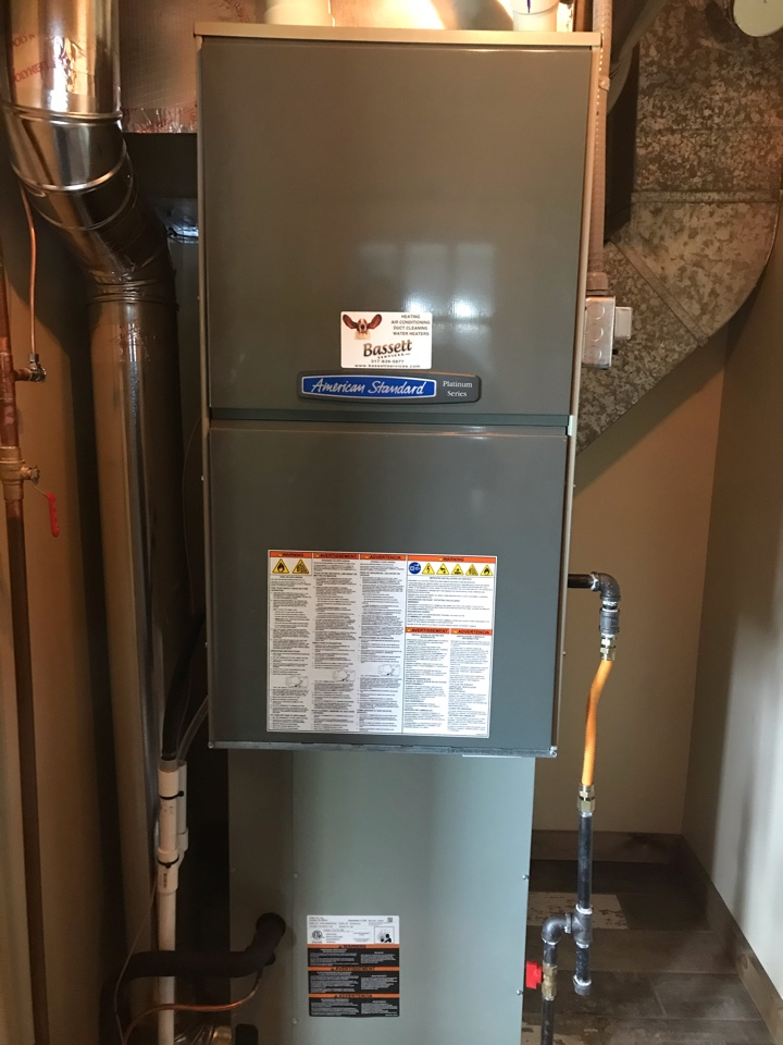 Coatesville, IN - Repairing a American standard gas furnace air conditioner heat pump