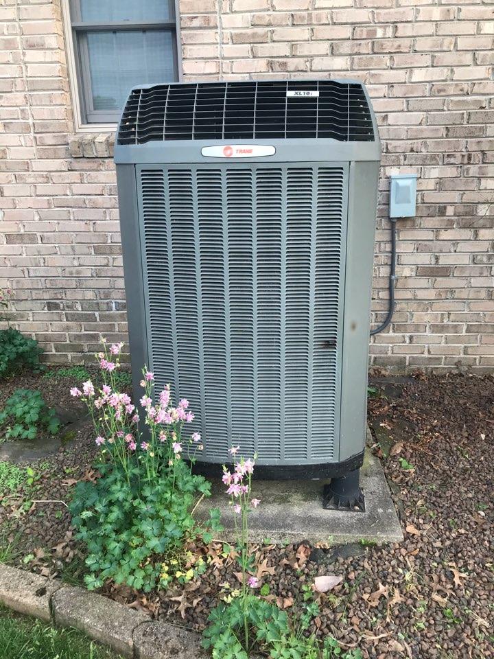 Pittsboro, IN - Repairing a Trane heat pump air conditioner furnace