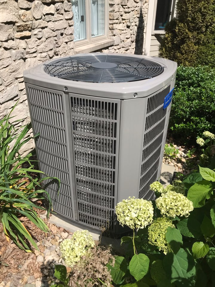 Cloverdale, IN - Repairing a American standard air conditioner