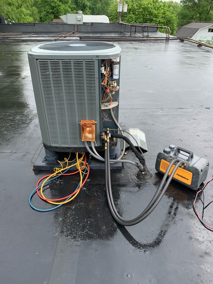 Pittsboro, IN - Service call repair on a Trane heat pump unit.