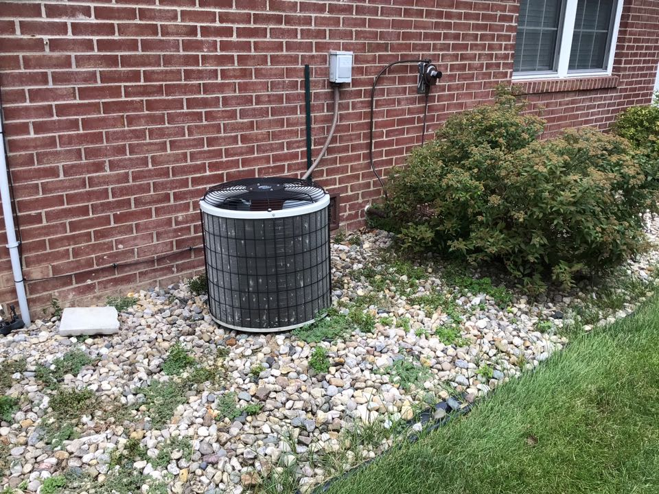 Coatesville, IN - Estimate on new installation of American Standard Gas Furnace and Air Conditioner.