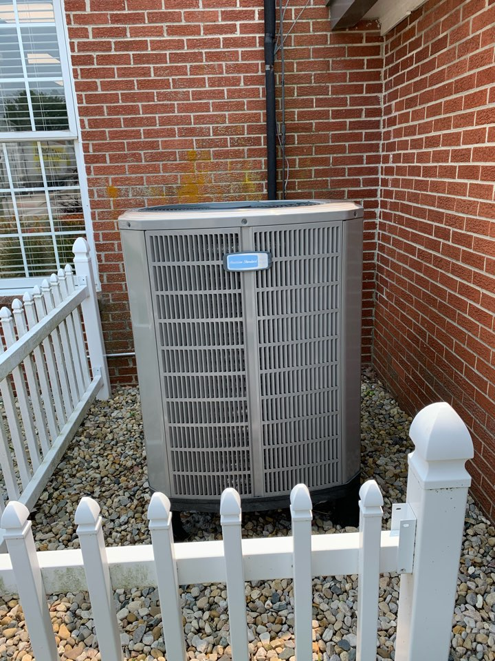 Clayton, IN - Annual cooling tune up and preventative maintenance on a American Standard heat pump.
