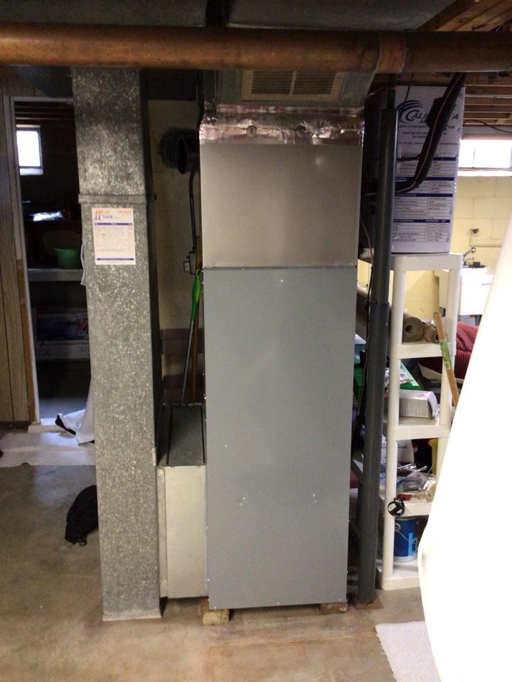 Avon, IN - Estimate on new installation of American Standard Gas Furnace.