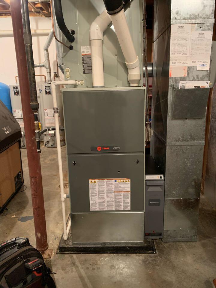 Service call repair on a Trane gas furnace