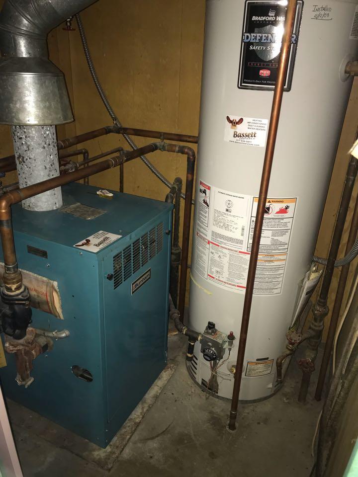 Repairing a Bryant gas furnace boiler