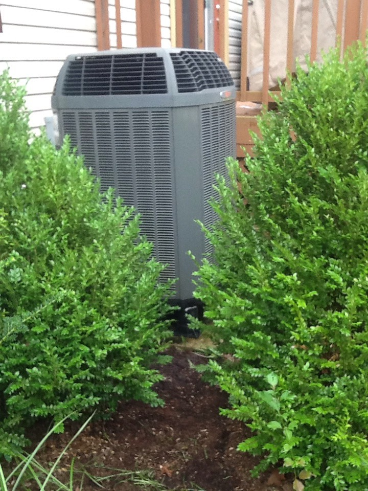 Quincy, IN - Air Conditioning Tune Up on Trane 15i Air Conditioner Model 4TWX5036A1000AA. Media Filter Changed