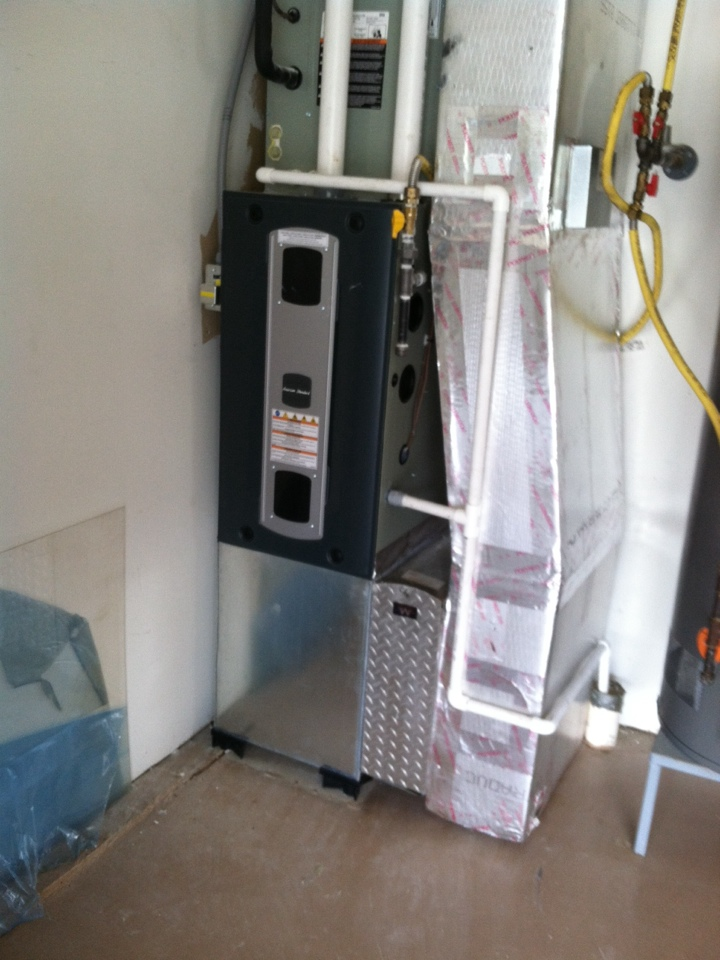 Noblesville, IN - Installation of American standard gas furnace