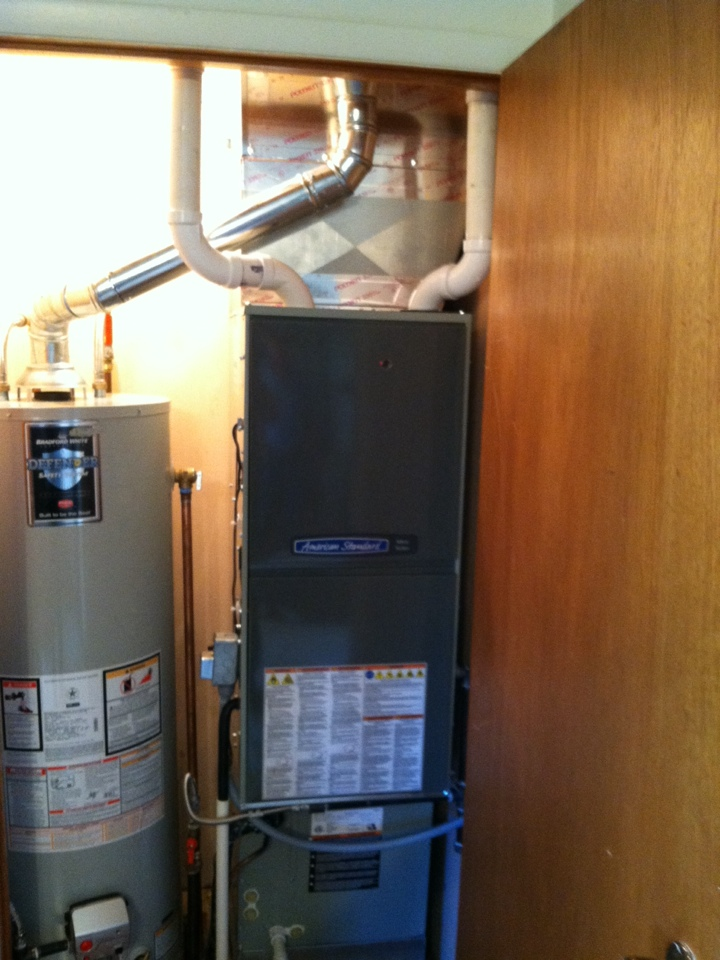 Bainbridge, IN - Installation of American standard furnace