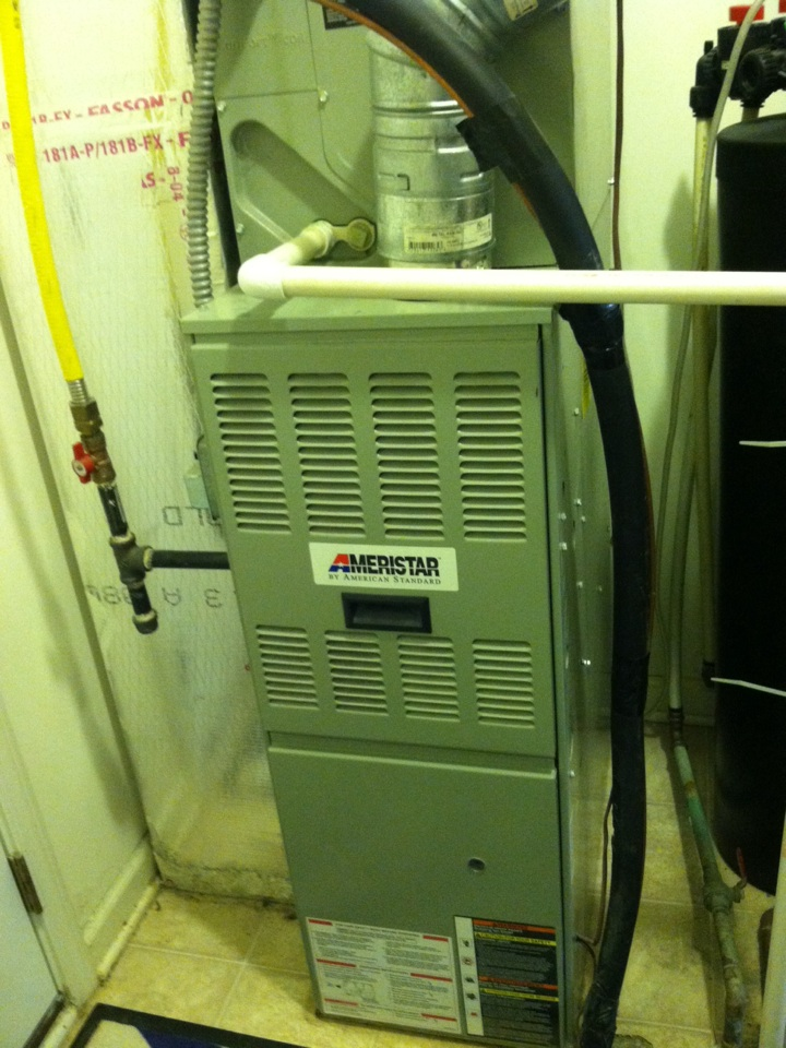 Camby, IN - Service call repair on Ameristar gas furnace. Loose wire shut down unit