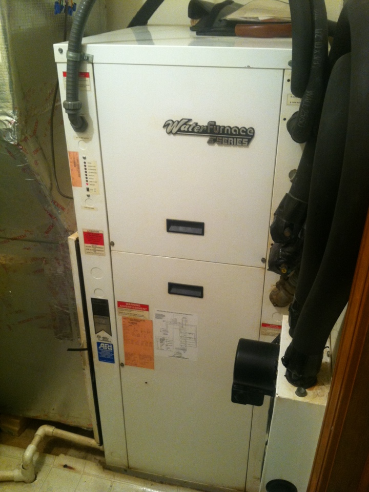 Quincy, IN - Repair on water furnace geothermal heating system
