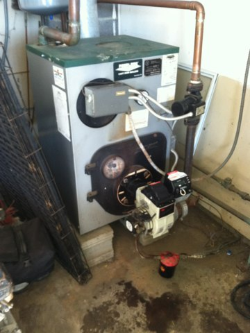 Lizton, IN - Cleaning and servicing boiler furnace