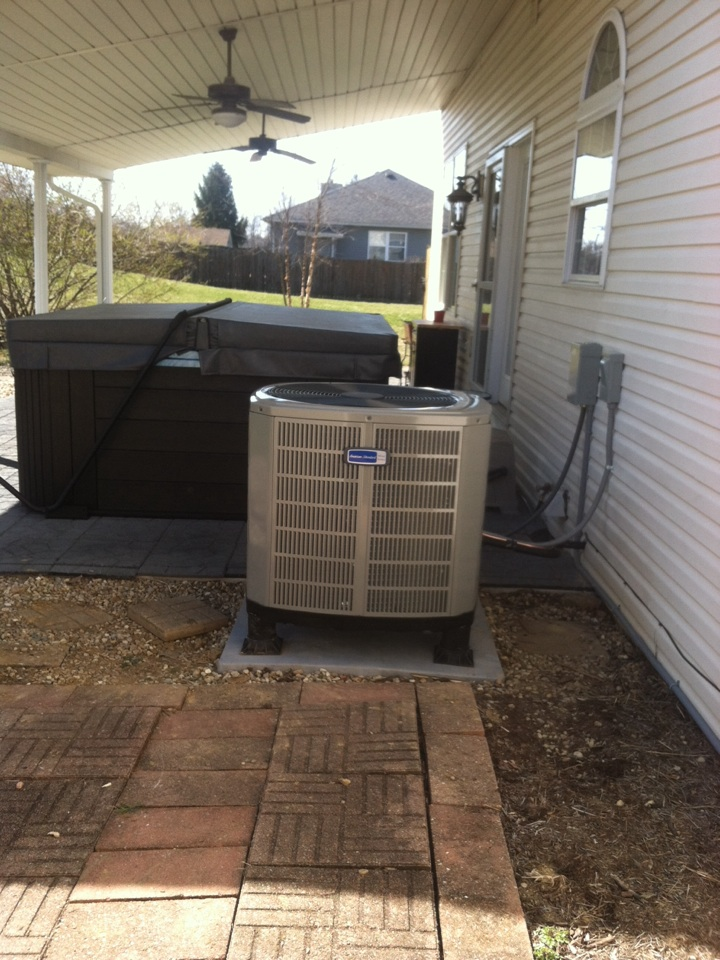 Greencastle, IN - Installed American standard air handler and heat pump