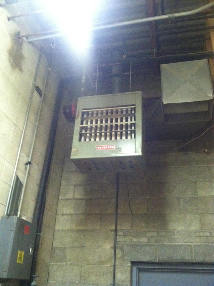 Monrovia, IN - Service on peerless hanging heater