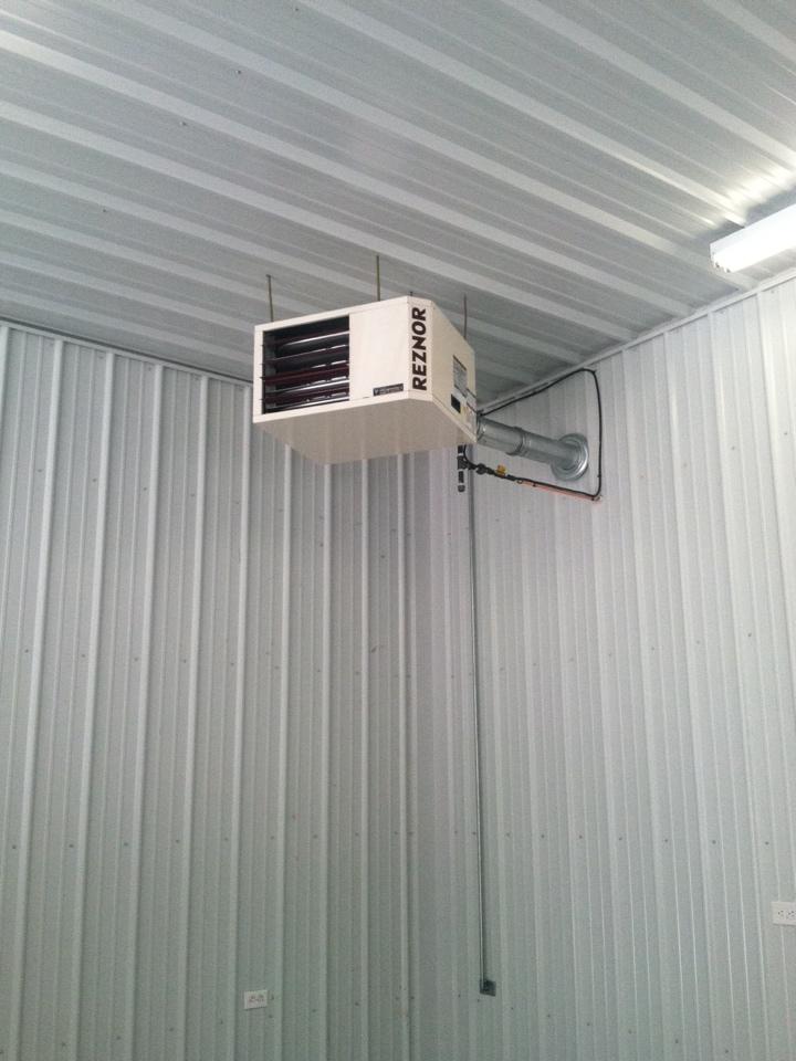Monrovia, IN - Service on reznor hanging heater