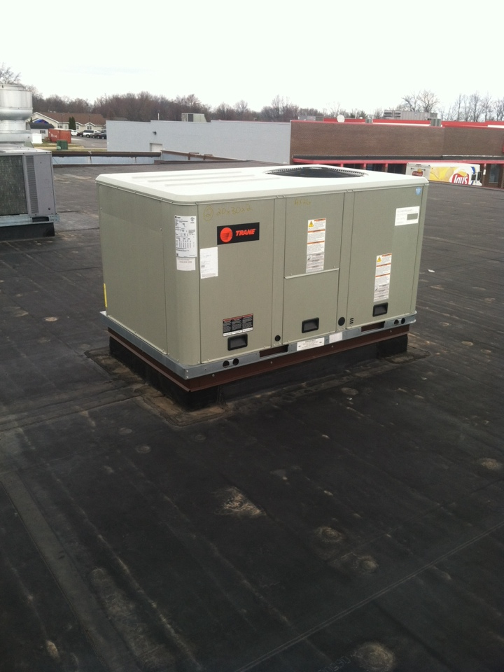 Danville, IN - Repair on trane roof top heating and cooling system