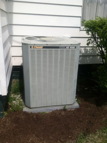Clayton, IN - Repairing and servicing a Trane air conditioner