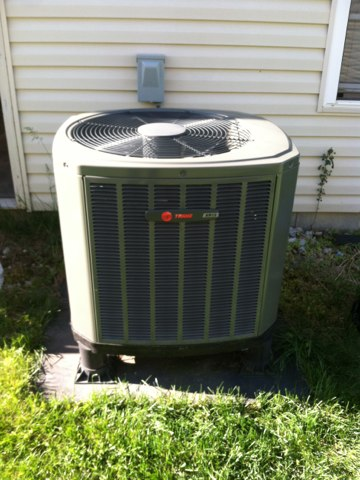 Greenwood, IN - Repairing a Trane air conditioner