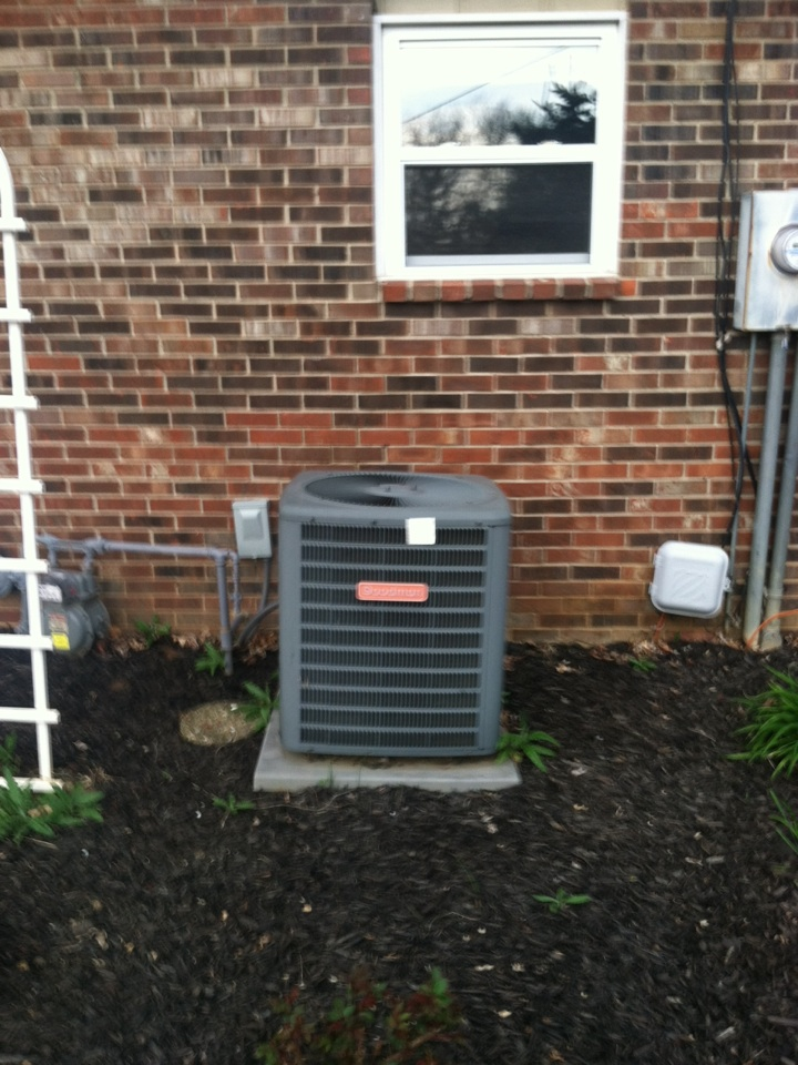 Fishers, IN - Service call repair on Goodman AC unit