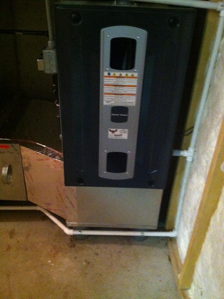 Pittsboro, IN - Installation of American standard furnace