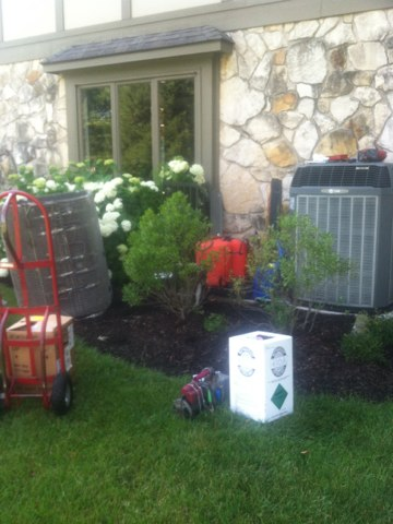 Zionsville, IN - Repairing a Trane air conditioner