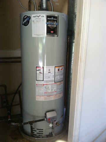Avon, IN - Installing a Bradford White hot water heater