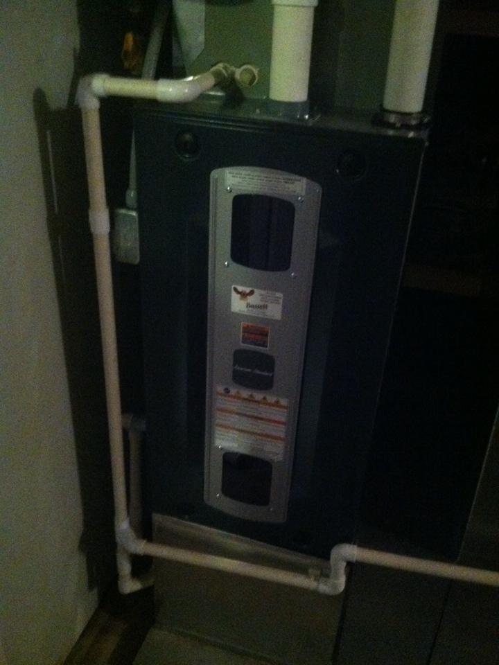 Clayton, IN - Installation of American standard furnace